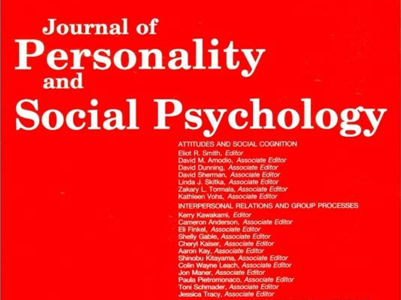 News -Journal of Personality and Social Psychology